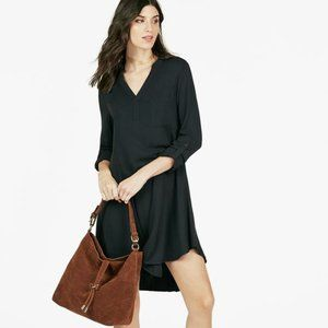 NWT Just Fab black shirt dress S